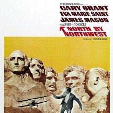Cine: CON LA MUERTE EN LOS TALONES - CARTEL ORIGINAL ALFRED HITCHCOCK CARY GRANT NORTH BY NORTHWEST. Lote 222324623