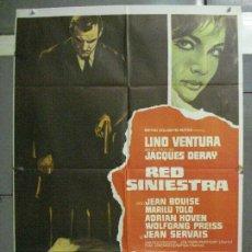 Cine: CDO 6488 RED SINIESTRA LINO VENTURA MARILU TOLO JACQUES DERAY POSTER ORIGINAL 70X100 ESTRENO. Lote 222362768