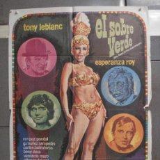 Cine: CDO 6494 EL SOBRE VERDE TONY LEBLANC ESPERANZA ROY JACINTO GUERRERO MAC POSTER ORIG 70X100 ESTRENO. Lote 222365468