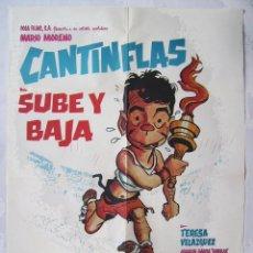 Cine: SUBE Y BAJA, CON MARIO MORENO, CANTINFLAS.. PÓSTER 70 X 99,5 CMS... Lote 222393598