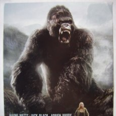 Cine: KING KONG, CON NAOMI WATTS. PÓSTER PROMOCIONAL 48,5 X 60 CMS... Lote 222412755
