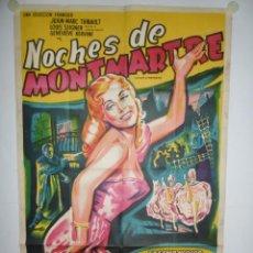 Cine: NOCHES DE MONTMARTRE - 110 X 75 - 1936 - LITOGRAFICO. Lote 222413782