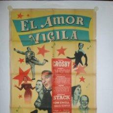 Cine: EL AMOR VIGILA - 110 X 75 - 1941 - LITOGRAFICO. Lote 222413833