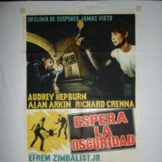 Cine: ESPERA LA OSCURIDAD - 110 X 75 - 1967 - LITOGRAFICO. Lote 222414001