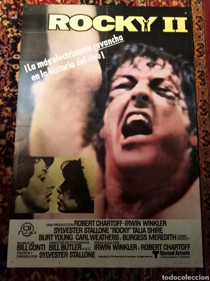 ROCKY II SYLVESTER STALLONE POSTER ORIGINAL 70 X100 (Cine - Posters y Carteles - Acción)