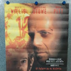 Cine: 12 MONOS. BRUCE WILLIS, MADELEINE STOWE, BRAD PITT AÑO 1995. POSTER ORIGINAL. Lote 222445091