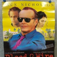 Cine: BLOOD & WINE (SANGRE Y VINO). JACK NICHOLSON, MICHAEL CAINE. POSTER ORIGINAL. Lote 222445166