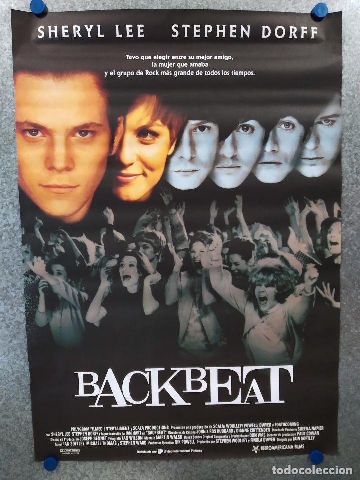 BACKBEAT. BEATLES. STEPHEN DORFF, IAN HART, SHERYL LEE, GARY BAKEWELL, CHRIS O'NEIL. POSTER ORIGINAL (Cine - Posters y Carteles - Musicales)