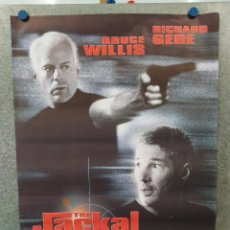 Cine: THE JACKAL (CHACAL). BRUCE WILLIS, RICHARD GERE, SIDNEY POITIER. AÑO 1997. POSTER ORIGINAL. Lote 222445493