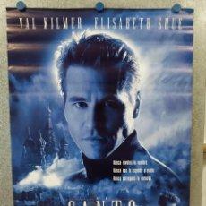 Cine: EL SANTO. VAL KILMER, ELISABETH SHUE, RADE SERBEDZIJA. AÑO 1997. POSTER ORIGINAL. Lote 222445582