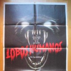 Cine: CARTEL CINE LOBOS HUMANOS ALBERT FINNEY 1982 C1926. Lote 222446275