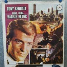 Cine: TRES PANTERAS AZULES. TONY KENDALL, BRAD HARRIS, ERIKA BLANC. AÑO 1978. POSTER ORIGINAL. Lote 222447080