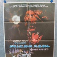 Cine: MIEDO AZUL. COREY HAIM, EVERETT MCGILL, GARY BUSEY AÑO 1982. POSTER ORIGINAL. Lote 222449252