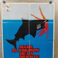 Cine: MAKO, EL TIBURÓN DE LA MUERTE. RICHARD JAECKEL, JENNIFER BISHOP. AÑO 1976. POSTER ORIGINAL. Lote 222449638