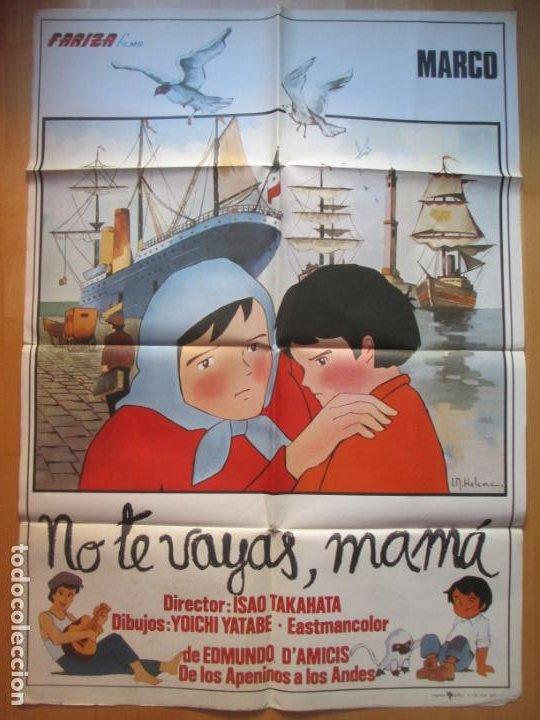 CARTEL CINE MARCO NO TE VAYAS MAMA ISAO TAKAHATA 1977 I.N HELENA C1930 (Cine - Posters y Carteles - Infantil)
