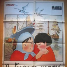 Cine: CARTEL CINE MARCO NO TE VAYAS MAMA ISAO TAKAHATA 1977 I.N HELENA C1930. Lote 222449678
