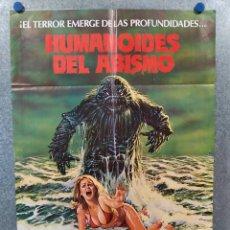 Cine: HUMANOIDES DEL ABISMO. DOUG MCCLURE, ANN TURKEL, VIC MORROW. AÑO 1980. POSTER ORIGINAL. Lote 222449858