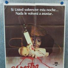 Cine: EL ROSTRO DE LA MUERTE. LINDA MILLER, MILDRED CLINTON, PAULA E. SHEPPARD. AÑO 1979. POSTER ORIGINAL. Lote 222450335