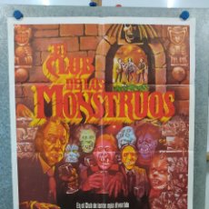 Cine: EL CLUB DE LOS MONSTRUOS. DONALD PLEASENCE, JOHN CARRADINE, VINCENT PRICE. POSTER ORIGINAL. Lote 222450623