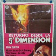 Cine: RETORNO DESDE LA QUINTA DIMENSIÓN. TONY CURTIS, SUSAN STRASBERG, MICHAEL ANSARA. POSTER ORIGINAL. Lote 222451107