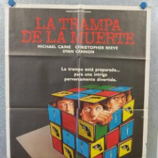 Cine: LA TRAMPA DE LA MUERTE. MICHAEL CAINE, CHRISTOPHER REEVE, DYAN CANNON. AÑO 1982. POSTER ORIGINAL. Lote 222451326