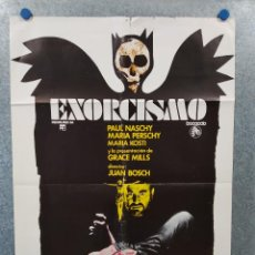 Cine: EXORCISMO. PAUL NASCHY, MARIA PERSCHY, MARÍA KOSTY. AÑO 1975. POSTER ORIGINAL. Lote 222451538