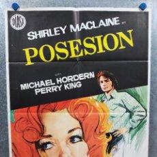 Cine: POSESION. SHIRLEY MACLAINE, MICHAEL HORDERN. AÑO 1973. POSTER ORIGINAL. Lote 222452221
