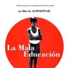 Cine: LA MALA EDUCACIÓN (POSTER). Lote 222462491