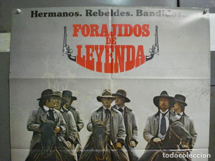 Cine: CDO 6542 FORAJIDOS DE LEYENDA WALTER HILL CARRADINE KEACH QUAID POSTER ORIGINAL 70X100 ESTRENO - Foto 2 - 222464841