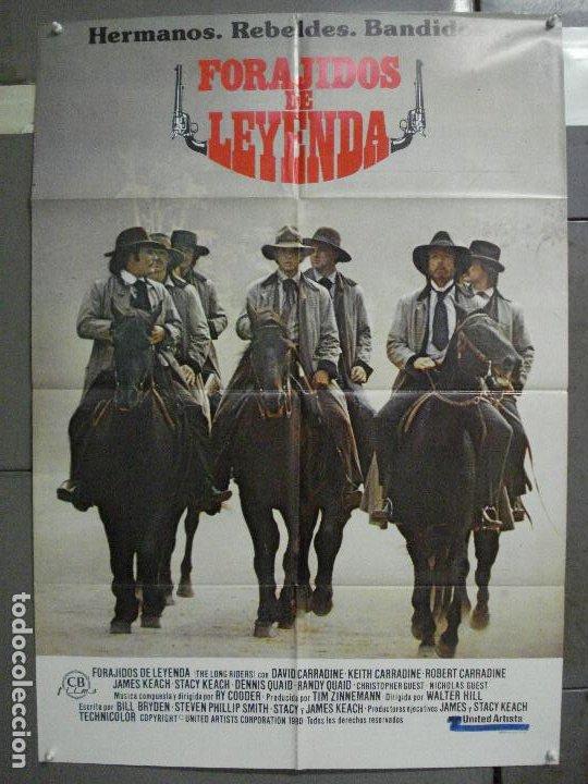 CDO 6542 FORAJIDOS DE LEYENDA WALTER HILL CARRADINE KEACH QUAID POSTER ORIGINAL 70X100 ESTRENO (Cine - Posters y Carteles - Westerns)