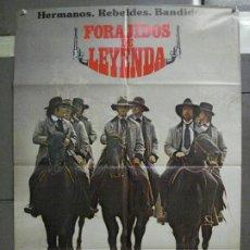Cine: CDO 6542 FORAJIDOS DE LEYENDA WALTER HILL CARRADINE KEACH QUAID POSTER ORIGINAL 70X100 ESTRENO. Lote 222464841
