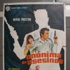 Cine: CDO 6549 ANONIMA DE ASESINOS JUAN DE ORDUÑA MCP POSTER ORIGINAL 70X100 ESTRENO. Lote 222467206
