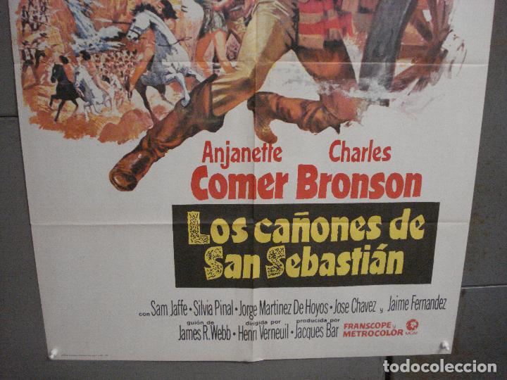 Cine: CDO 6558 LOS CAÑONES DE SAN SEBASTIAN ANTHONY QUINN CHARLES BRONSON POSTER 70X100 ESTRENO - Foto 3 - 222477520