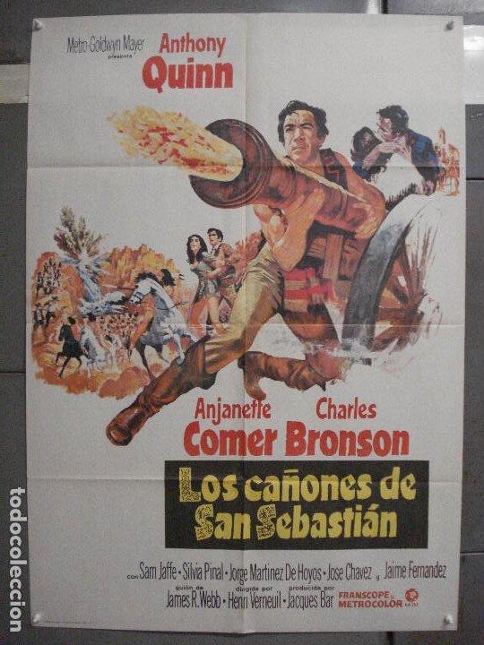 CDO 6558 LOS CAÑONES DE SAN SEBASTIAN ANTHONY QUINN CHARLES BRONSON POSTER 70X100 ESTRENO (Cine - Posters y Carteles - Westerns)
