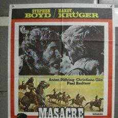 Cine: CDO 6565 MASACRE EN CONDOR PASS HARDY KRUGER BREITNER FUTBOL SPAGHETTI POSTER ORIG 70X100 ESTRENO. Lote 222480820