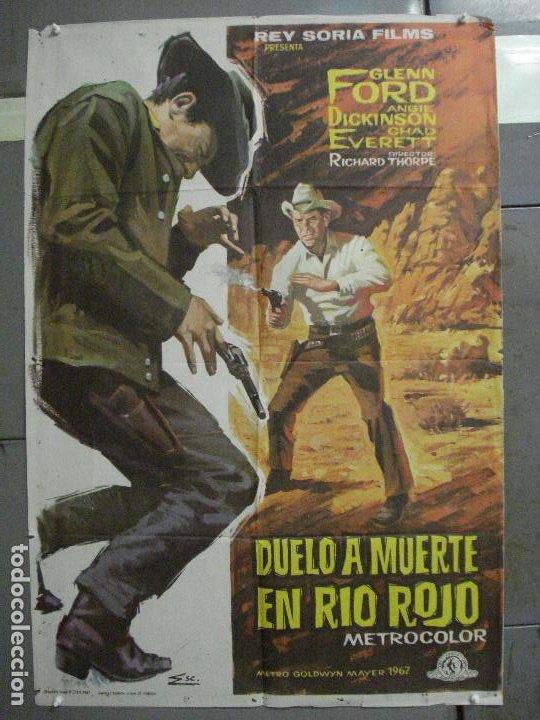 CDO 6571 DUELO A MUERTE EN RIO ROJO GLENN FORD ANGIE DICKINSON ESC POSTER ORIGINAL 70X100 ESTRENO (Cine - Posters y Carteles - Westerns)