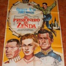"""Cine: POSTER DE CINE DE LA PELICULA """"EL PRISIONERO DE ZENDA"""". STEWART GRANGER. Lote 222491685"""