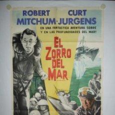 Cine: EL ZORRO DEL MAR - 110 X 75 - 1957 - LITOGRAFICO. Lote 222525430