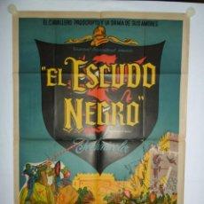 Cine: EL ESCUDO NEGRO - 110 X 75 - 1954 - LITOGRAFICO. Lote 222525467