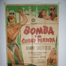 Cine: BOMBA Y LA CIUDAD PERDIDA - 110 X 75 - 1950 - LITOGRAFICO. Lote 222525526