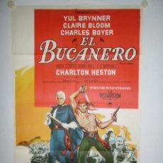 Cine: EL BUCANERO - 110 X 75 - 1956 - OFFSET. Lote 222525670