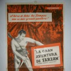 Cine: LA GRAN AVENTURA DE TARZAN - 110 X 75 - 1959 - LITOGRAFICO. Lote 222525823