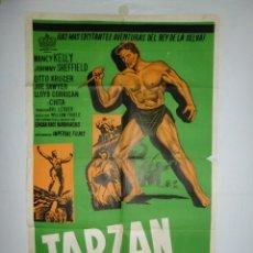 Cine: TARZAN EL TEMERARIO - 110 X 75 - 1943 - LITOGRAFICO. Lote 222525858