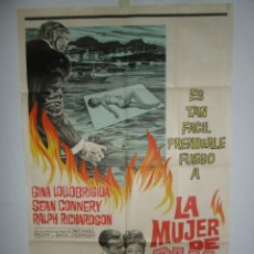 Cine: LA MUJER DE PAJA - 110 X 75 - 1964 - LITOGRAFICO. Lote 222526046