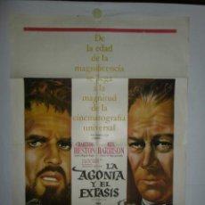 Cine: LA AGONIA Y EL EXTASIS - 110 X 75 - 1965 - LITOGRAFICO. Lote 222526092
