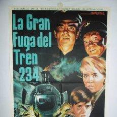 Cine: LA GRAN FUGA DEL TREN 234 - 110 X 75 - 1963 - LITOGRAFICO. Lote 222526143