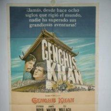 Cine: GENGHIS KHAN - 110 X 75 - 1965 - LITOGRAFICO. Lote 222526265