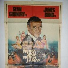 Cine: NUNCA DIGA NUNCA JAMAS - 110 X 75 - 1983 - OFFSET. Lote 222526410
