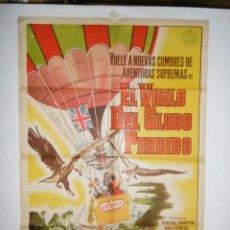 Cine: EL VUELO DEL GLOBO PERDIDO - 110 X 75 - 1961 - LITOGRAFICO. Lote 222526590