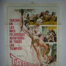Cine: TARZAN Y EL GRAN RIO - 110 X 75 - 1967 - LITOGRAFICO. Lote 222526896
